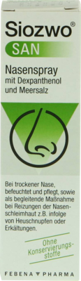 Febena Pharma GmbH SIOZWO SAN Nasenspray m.Dexpanthenol u.Meersalz 20 ml 00964229