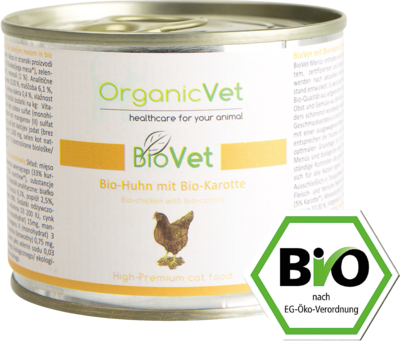 organicVet GmbH ORGANICVET BioVet mit Huhn f'r Katzen 200 g
