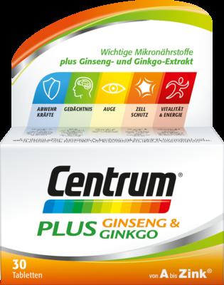 Pfizer Consumer Healthcare GmbH CENTRUM Plus Ginseng & Ginkgo Tabletten 30 St 12526552