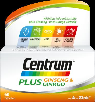 Pfizer Consumer Healthcare GmbH CENTRUM Plus Ginseng & Ginkgo Tabletten 60 St 12526569